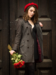 Roses are Red (mayflys_reach) Tags: unexpectedtales imogen imogenx availablelight beauty brunette girl glamour london naturallight olympus portrait people penf stpaulscathedral woman