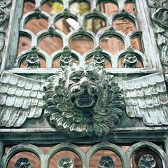 the beast gate (OH-Photography) Tags: burghohenzollern kodakportra160 scan yashicamat124g analog