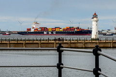 7DWF - Saturday - Landscapes (Chris Scopes) Tags: 7dwf saturdaylandscape mersey river shippingcontainer trade perch rock