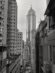 High Living Density Area (huiaaron) Tags: lg v10 mobilephonephotography blackwhite hongkong central commercialbuilding building