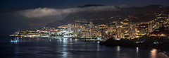 Monaco - the monarchy never sleeps (Rafael Zenon Wagner) Tags: nikon d810 70200mmf4 125mm monaco panorama nacht night stadt city state meer sea boat boot hafen harbor seascape küste coast spiegelung reflection lichter lights