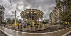 Plaza Colón (MarioVolpi) Tags: argentina argentine canon60d mar del plata calesita carrousel clouds cielo cloudy hdr panorama pano perspective