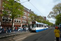 Koningsdag 2017; lijn 24, Beethovenstraat (Railfan5569) Tags: tram amsterdam gvb