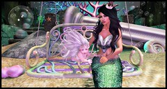 Down Under (delisadventures) Tags: secondlife adorable mermaid tiny trinkets gypsyheart poses toddleedoo cute toddleedoos toddler sl slblog second life tail merworld triton ursula