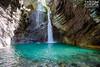 Kozjak Waterfall in Soča Valley (Slovenija)