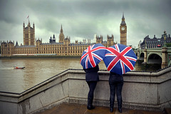 181134468 (DeltaNewsHub) Tags: london rain umbrellas bigben international england uk thamesriver horizontal cloudy overcast female daytime
