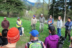 Participants arrive at Split Creek Ranch (BC Wildlife Federation's WEP) Tags: lillooet wetland restoration design workshop wetlands education program bcwf wep splitrock environmental spray creek ranch farm organic schoolyard aboriginal