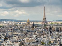 P4270721 (ivanpecina1) Tags: zuiko sacrecoeur parisien architecture paris torreeiffel tower france skyline cloudy eiffel city olympus micro43 panoramic panoramica omd em5