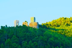 Cantelmo castle -  Oil painting picture effects series (Mario Ottaviani Photography) Tags: sony sonyalpha italy italia paesaggio landscape travel adventure nature scenic exploration view vista breathtaking tranquil tranquility serene serenity calm marioottaviani cantelmo castle castello popoli forest wood green oilpainting oil pictureeffects