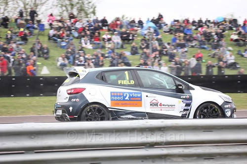 Graham Field racing in the Clio Cup at Thruxton, May 2017