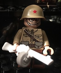 """I hate this war"" (dmikeyb) Tags: lego wwii russian soldier ppsh custom minifig minifigure"