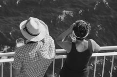 sail away (=Mirjam=) Tags: nikon ship sail fence railing sea sailingaway shipahoy bw mei 2017