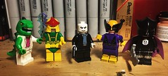 Spider-Figs, (LordAllo) Tags: lego marvel spiderman villains the lizard electro chameleon batroc leaper reaper