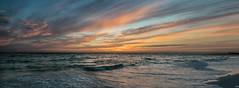 Earth Day Sunset (D~P~B) Tags: sunset honeymoon honeymoonisland dunedin nikon nikond5300 florida water nature earth earthday romantic ocean gulf beach colors sun panorama
