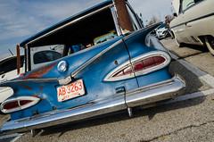 Imperfect glory (GmanViz) Tags: gmanviz color car automobile detail columbuscarscoffee ccc nikon d7000 1959 chevrolet stationwagon tailgate taillights tailfins bumper
