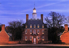 postcard - Governors House, Colonial Williamsburg (Jassy-50) Tags: postcard colonialwilliamsburg williamsburg virginia architecture buidling night governorshouse