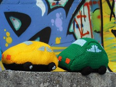 Mini car (stranelane1) Tags: car macchina toy giocattolo knit knitted knitting baby tricot maglia