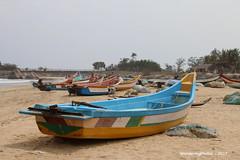 Fishing Boats on the beach - Mahabalipuram Tamil Nadu India (WanderingPhotosPJB) Tags: india tamilnadu mahabalipuram beach sea bayofbengal boats fishing