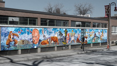 Memorial Park Mural (Oshawa, Ontario) (♡✌ Kᵉⁿ Lᵃⁿᵉ ✌♡) Tags: can canada geo:lat=4389472455 geo:lon=7886344671 geotagged ontario oshawa oshawasoutheast architecture armedforces armedforcesmemorial art canadasmotorcity centrestreetsouth cityofoshawa durhamregion greatertorontoarea johnstreetwest memorial memorialpark memorialparkoshawa metcalfstreet monument mural oshawamemorialpark preparetobeamazed simcoestreetsouth thegardenoftheunforgotten touristattraction travelphotography warmemorial wwwoshawaca