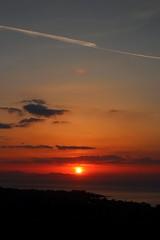 wow (dimatteoeleonora) Tags: cefalù sicilia sicily flickrdiamond home sunset tramonto love landscape sky skyporn skyscape plane italy incrediblenature nature natura blu blue red rosso shape peace country