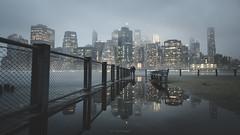 New York (Lines of New York) Tags: newyork city ny nyc architcture urban street cityscape puddle reflection uas usa us manhattan wallstreet brooklyn skyline building sky light sunrise clouds fog water ocean sea
