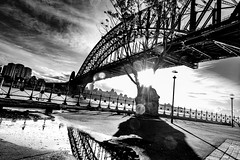 My Sydney (Martin Snicer Photography) Tags: sydney australia photographer fineartphotography city bridge sydneyharbourbridge travel monochrome bnw blackandwhite bw clouds reflection puddle creative 70d 1018mm wideangle mysydney martinsnicer