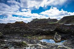 Dunottar Castle (John fae Fife) Tags: rockpools fujifilmx beach landscape cliffs stonehaven xt1 castle sea shore scotland dunottarcastle