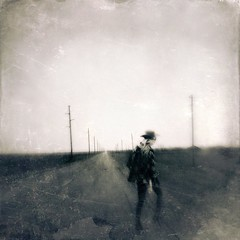 Another breath, another step (lorenka campos) Tags: bnw scratch future paths expressionism texas roads