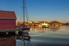 Evening in Tananger (Kurt Evensen) Tags: light culturallandscape harbour tananger boats rogaland quiet reflection water docks heritage tranquillity silence evening sailboat shore norway no