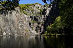 Vivian Quarry (mlomax1) Tags: 80d canoneos80d cymru dinorwig dinorwigcountrypark eos80d slatemuseum wales canon outdoor vivianquarry quarry water slate reflection trees mountain sky