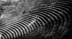 The art of finding your place (Tiigra) Tags: verona veneto italy it 2011 architecture monochrome people rhythm ruin shadow shape stairs pattern