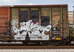 (o texano) Tags: houston texas graffiti trains freights bench benching tiket
