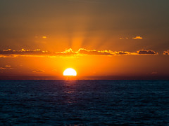An impressive sunset over Gazipaşa (ErdenizS) Tags: olympus omd em5 m42 m43 manuallens carlzeissjena czjsonnar135mm sunset seaside gazipaşa antalya dusk sky clouds mediterranean sunrays crespuscularrays sun warm vibrant colorful