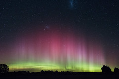 The Lights From Home (AllisonwonderlandNZ) Tags: auroraaustralis aurora rays beams sky nightsky stars starlight glow southernlights southcanterbury newzealand nz astrophotography