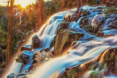 (Marc Crumpler (Ilikethenight)) Tags: landscape usa california laketahoe emeraldbay eaglefalls marccrumpler sunrise sunlit waterfall water ice icy trees rocks canon canon6d 6d 24105mmf4l
