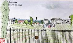Le Tour de France virtuel - 92 - Hauts-de-Seine (chando*) Tags: aquarelle watercolor croquis sketch france