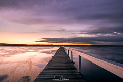 Sunset Long Jetty (leonsidik.com) Tags: leon sidik fujifilm sunset long jetty central coast nsw newsouthwales australia landscape water lake macquarie colour tourism 2017