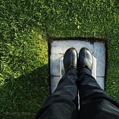 selfie squared (MacroMarcie) Tags: hbm benchmonday bench monday feet standing olympus 7dwf