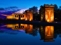 Templo de Debod (FredM.) Tags: nikon d750 madrid espagne españa spain templo debod sunset coucherdesoleil temple reflet reflection poselongue longexposure nightlight tiltshift miniature