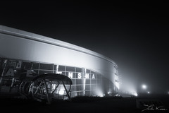 IFR (Tristan K.) Tags: fog smog mist blackwhite blackandwhite bw night building architecture weather contrast myst ensma isae isaeensma chasseneuil futuroscope chasseneuildupoitou poitiers vienne 86 engineer engineering aeronautics