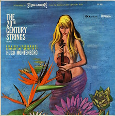 The 20th Century Strings Volume 1 (Jim Ed Blanchard) Tags: lp album record vintage cover sleeve jacket vinyl easy listening lounge pretty woman girl sexy hugo montenegro 20th century strings illustration blonde nude violin