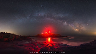 Nubble Lighthouse Milky Way Pano