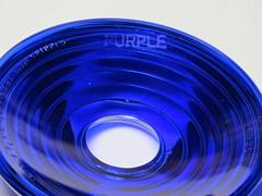 """CORNING MADE IN U.S.A. 5 1 2 """" D. X . 1 2 """" F . I . D .  1935   PURPLE (brian.m.rule241) Tags: railroad signal color aspect indication hot pink purple glass lens corning made in usa 5 1 2 dx12 f i d 1935"""