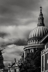 Saint Paul (Anthony P26) Tags: architecture category england external london places stpaulscathedral travel architecturephotography travelphotography greatbritain britain british english uk unitedkingdom city capitalcity landmarks cathedral church placeofworship dome domedroof canon1585mm canon70d canon monochrome bw blackandwhite whiteandblack outdoor sky clouds cloudysky greyclouds