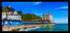 Room with a View (Kev Walker ¦ From Manchester) Tags: architecture beautiful britishculture building canon1100d canon1855mm colorfull grandhotel hdr historical llandudno northwales panorama panoramic photoborder postprocessing