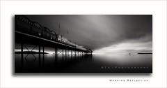Morning Reflection (Explore 02/05/2017) (RTA Photography) Tags: paignton pier morning long exposure longexposure rtaphotography sky beach sea devon torbay monochrome paigntonpier light blackwhite explore