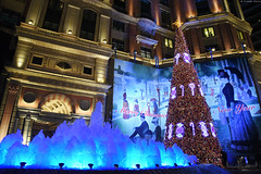 台北・文華東方酒店 ∣ Mandarin Oriental・Taipei [EXPLORED] (Iyhon Chiu) Tags: 文華東方 台灣 噴水 飯店 hotel christmas xmas tree fountain 台北 文華東方酒店 mandarinoriental taipei 2016 night explore