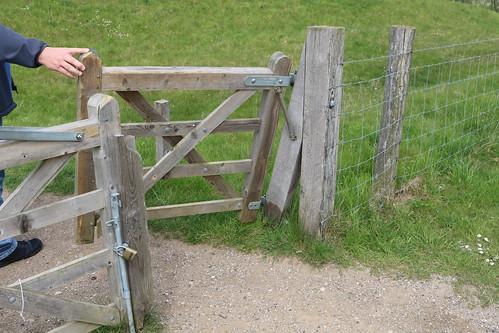 Sensible angled field gate - Danish style
