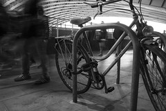Moving Swiftly On (stopdead2012) Tags: london river thames bridge southbank bicycle motion blur blackfriars