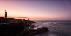 Portland Bill Lighthouse (Chris Sweet Photography) Tags: dorset portlandbill sunrise goldenhour pasteltones coast coastal seascape landscape rocks clouds